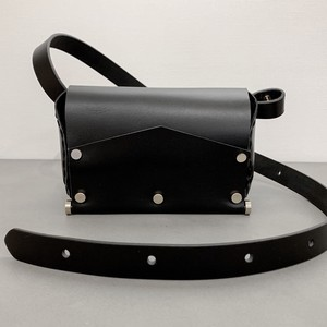 Body Shoulder Bag - Leather #Black
