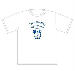 【限定】Town Meeting by the Sea / Clock T-shirts(white)
