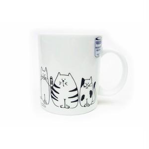 マグカップ 可愛いネコ達 コーニッツ  11-1-002-2075-1902