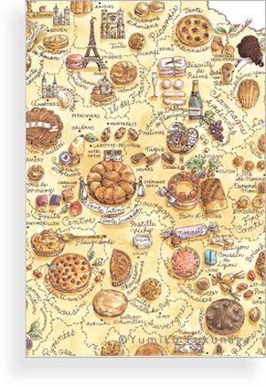 Post Card(フランス伝統菓子map)