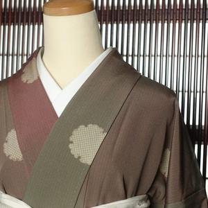雪輪(167cm・67cm) 正絹小紋【1309】