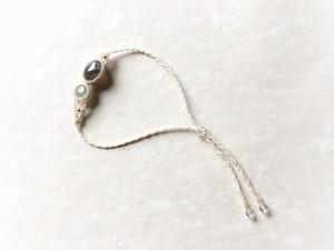 ボツワナアゲート+翡翠 macrame bracelet