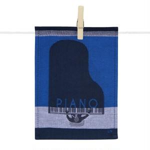 ミニティータオル ピアノ 約21x16(cm)