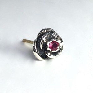 ROSE STUD with RUBY / ローズピアス・ルビー