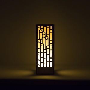 ミニ行灯 - 置き型照明 竹模様
