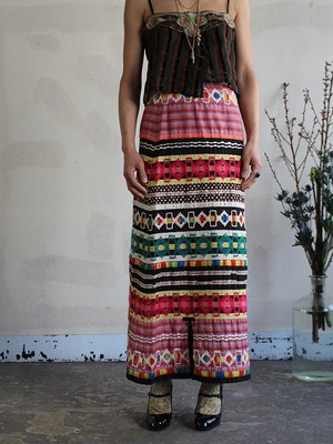 70s embroidery skirt