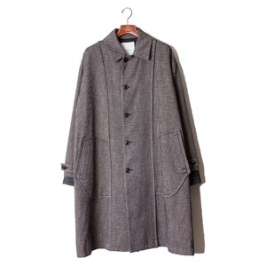 Back Side Over Coat -black check <LSD-AI3C2>
