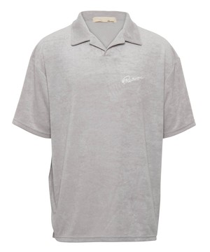COTTON PILE SKIPPER BIG POLO SHIRTS[REC390]