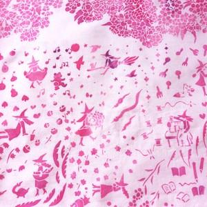 手捺染手ぬぐい「桜魔女」