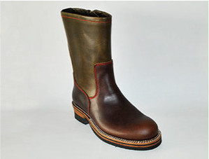 【High Line】ZIP ENGINEER BOOTS CHROMEXCEL DK.BROWN/KHAKI GR-KE318B