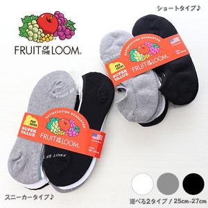 【FRUIT OF THE LOOM】 選べる2タイプ♪ スニーカーorショート丈 メンズ ソックス 3足セット 靴下 フルーツオブザルーム