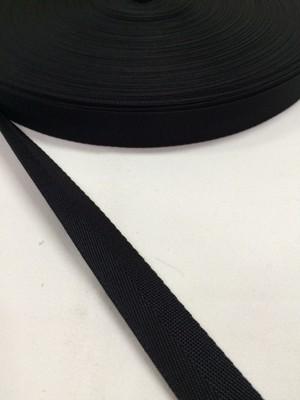 ナイロン 杉綾織(綾テープ) 18mm幅 黒 5m単位