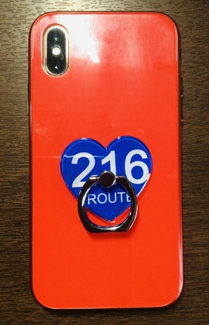 ROUTE216 ハート型スマホリング