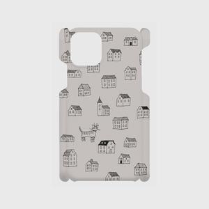 大塚砂織 スマホケース for iPhone(各機種対応) 絵柄:猫 色:グレー