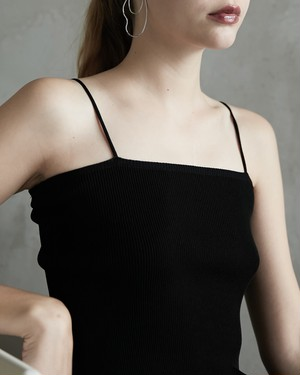 PARALLEL CAMISOLE (BLACK / BEIGE)