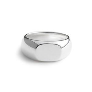 ❰ No.4 ❱ Horizontal circle polished silver ring