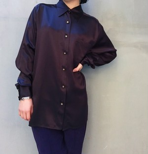 CHANEL Dark chocolate silk shirts