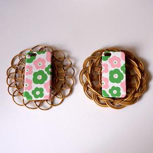 popy ( pink × green ) ハードケース型スマホケース【受注生産】★ Lサイズは+400円