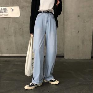ワイドレッグパンツ カジュアルデニム ジーンズ【0548】