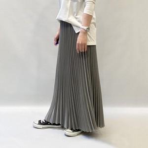 FLORENT(フローレント) ウーリーカルゼストレッチプリーツスカート 2021春物新作[送料無料]