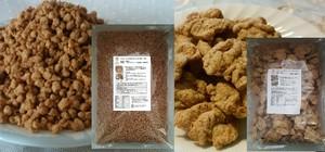 低脂質・低糖質!100%無添加・国産・遺伝子組み換えでないスーパープレミアム大豆プロテイン2種セット!「大豆フィレ肉1Kg」☓「大豆そぼろ肉1Kg」
