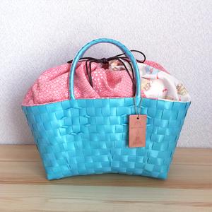 プラバッグ(mana kaban × jollies コラボ)【絹メイン】ライトブルー