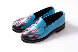 FLAME PATTERN DRESS SHOES