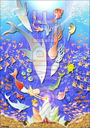 深海の饗宴 サイズA4