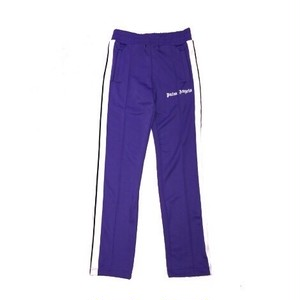 PALM ANGELS SLIM TRUCK TROUSERS PURPLE
