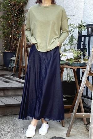 ThePark Tencel cotton Denim fmaxi lemgth skirrs  テンセルコットンデニムマキシスカート