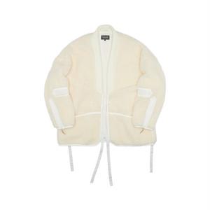 Tux Haori Fleece Jacket_ivory 羽織ジャケット フリース