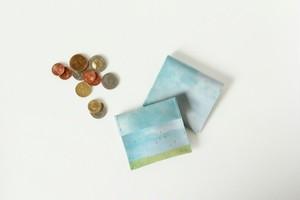 水色の空のコインケース|受注制作