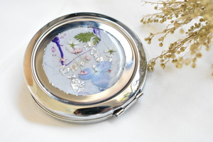 marble compact mirror(silver)