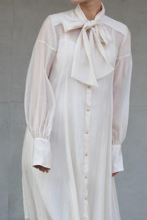 【eicayoshinari】silk organdy bowtie dress