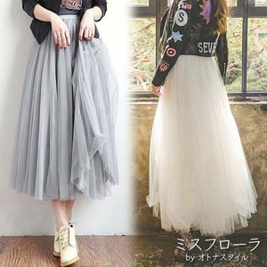 【予約】ふんわり フレア レディース スカート チュールスカート
