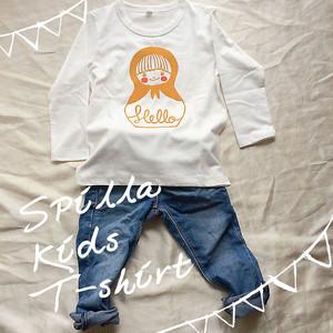 コンニチハ  長袖Tシャツ・キッズ80・90・100サイズ