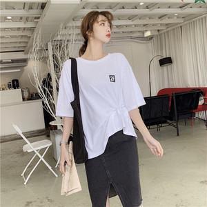 【トップス】カジュアルゆったり合わせやすいラウンドネックTシャツ