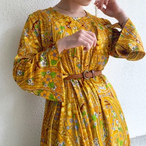 (LOOK) paisley & flower print dress