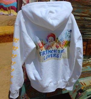 FRENCH FRY LOVERS HOODIE WHITE