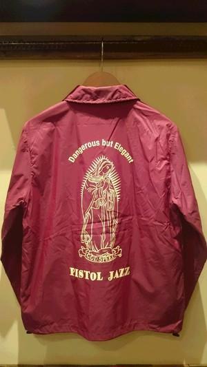 PISTOL JAZZ/god speed Coach Jacket col.BURGUNDY