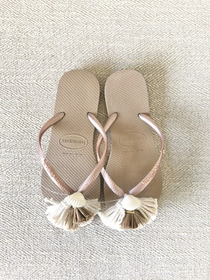 Jelly Sandals Shell (Slim gold)