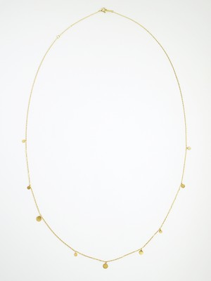 Shiny bubbles long necklace