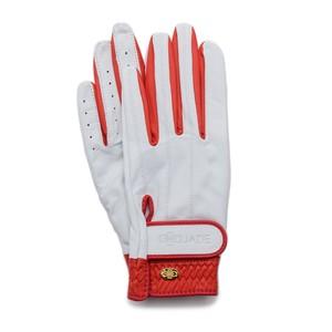 Elegant Golf Glove white-red