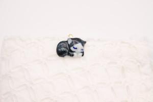 有田焼マスククリップ  眠り猫 3