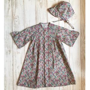 カントリーチック花柄ベビードレス