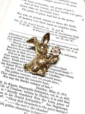 【Run Rabbit Run Vintage】Rabbit brooch