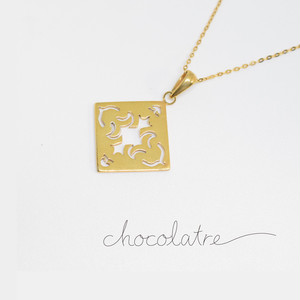 chocolatre「フォンダン」ゴールドペンダント