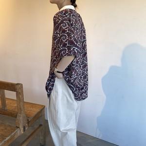 short sleeve paisley shirt