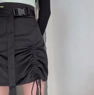 lace up belt skirt