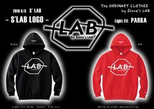 【NEW!!】プルオーバーパーカー「S'LAB LOGO」S'LAB Light-Fit PARKA